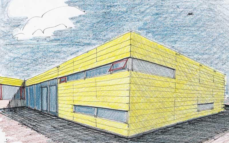Renovatie basischool en gymzaal Rijswijk, artistimpressie van het nieuwe speellokaal